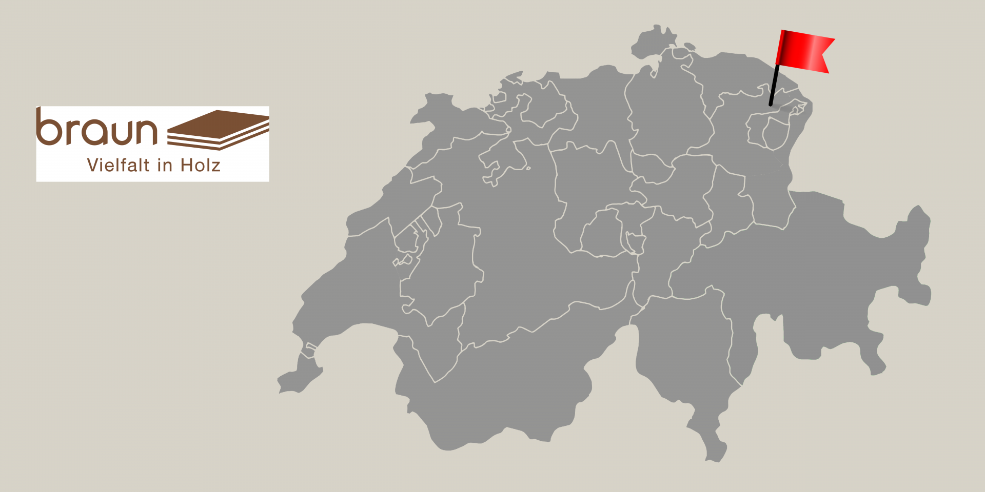Braun Logo Karte