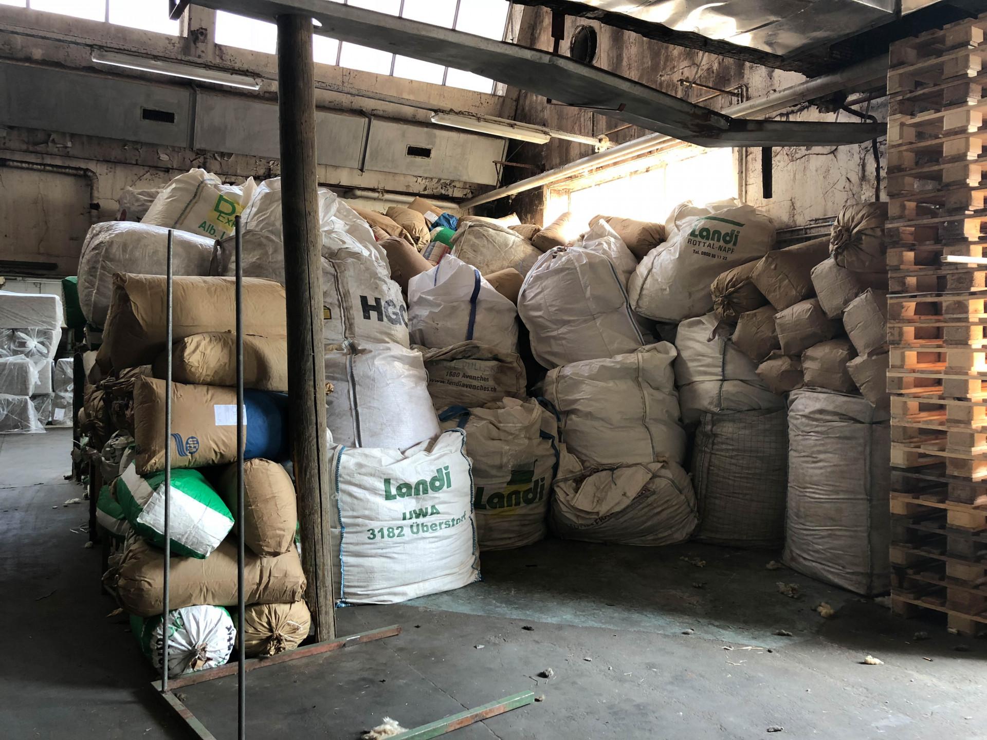 Lagerung der Wolle