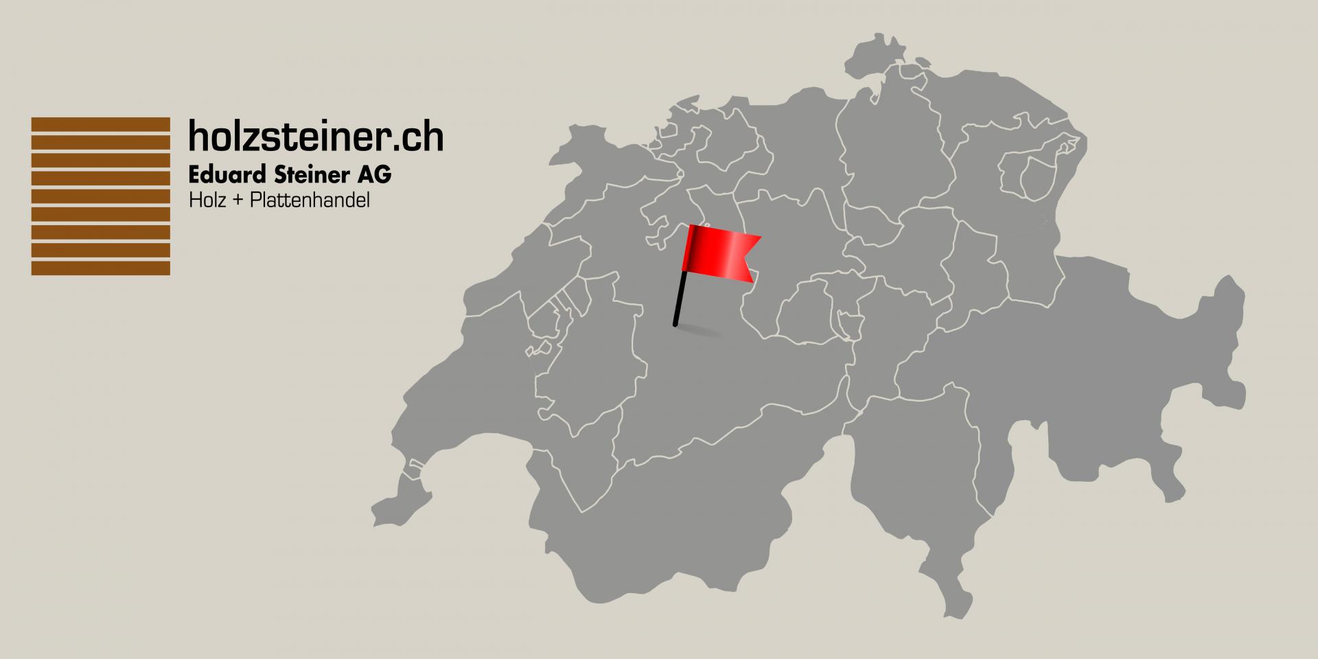 Holz Steiner Logo Karte