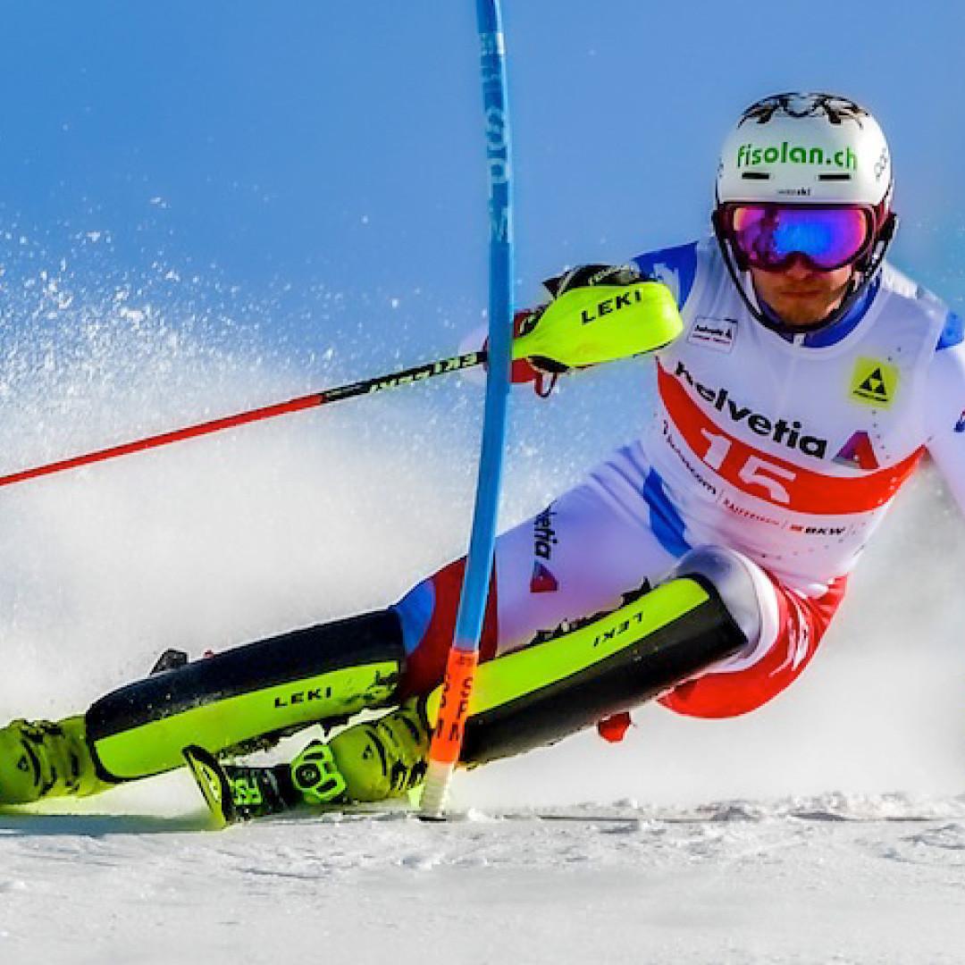 Noel von Grünigen mitten in der Slalom Abfahrt