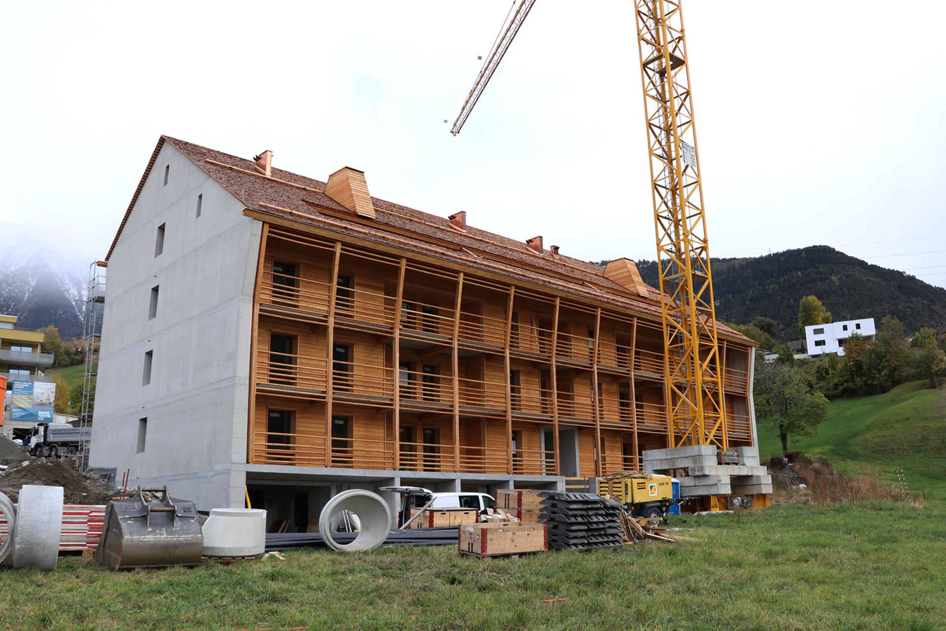 Gesamtansicht Bauphase Gemeinschaftshaus St. Ursula